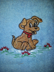 LITTLE DOG PERSONALISED FACE CLOTH