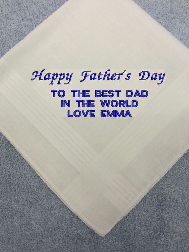 Personalised Embroidered Hankie Father S Day Dad Gift